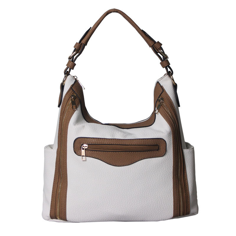 New Design Fashion PU Wholesale White Tote Bag