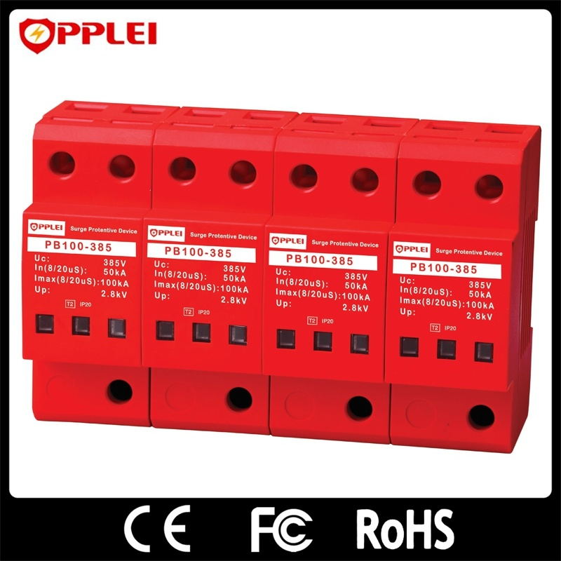 AC Power 100ka 385V 4p Three Phase Surge Protective Device