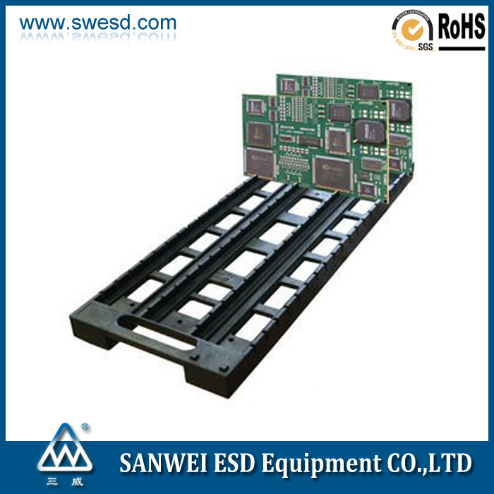 Conductive ESD Antistatic Plastic Circulation PCB Rack (3W-9805403)