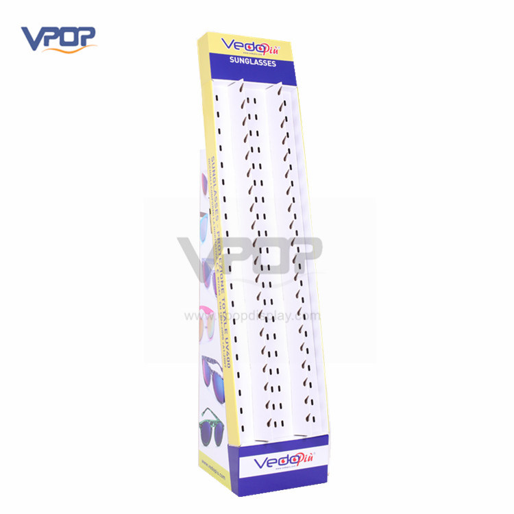 Sunglasses Cardboard Floor Display Holding 40 Pairs of Glasses