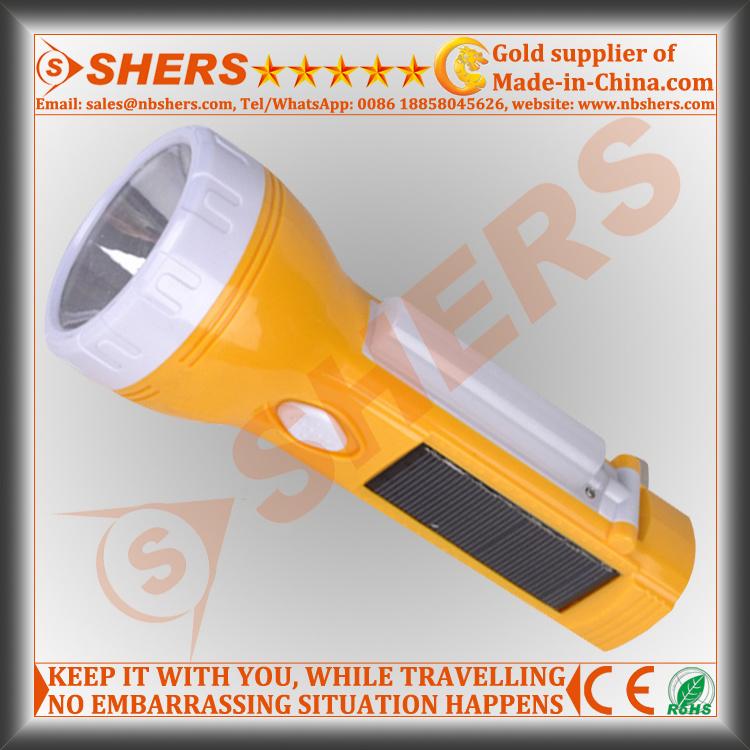 Solar 1W LED Flashlight with 10 LED Desk Lamp (SH-1909)
