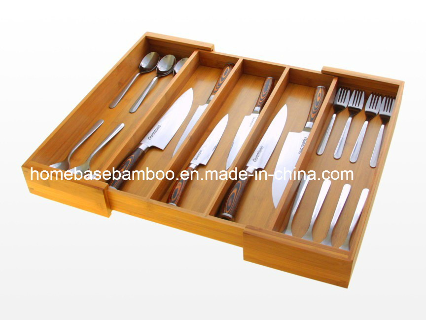 FDA SGS LFGB Drawer Expandable Cutlery Utensil Flatwaretray Flatware Organizers Tray Storage Box Hb108