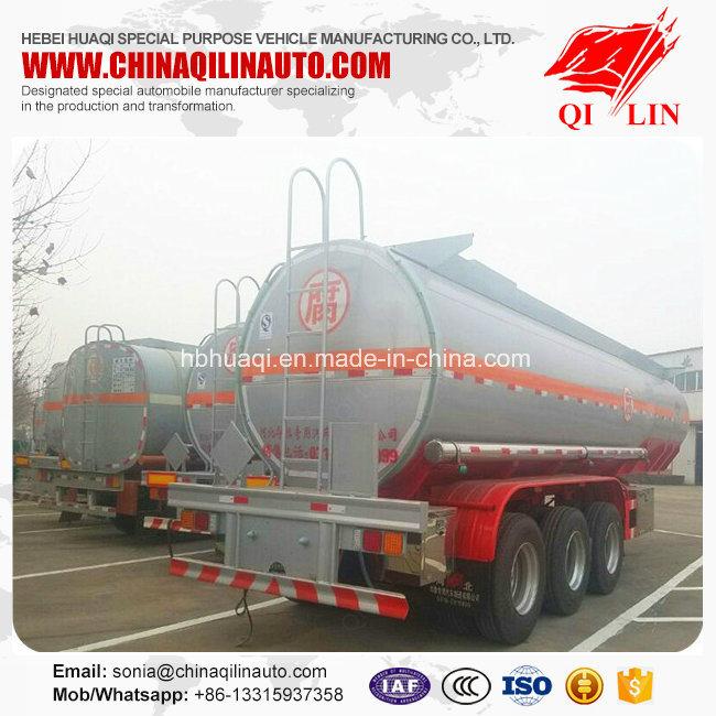 Stainless Steel Corrosive Liquid Transport Tanker Semi Trailer