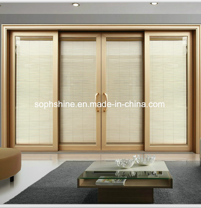 Insulated Glass with Internal Motorized Aluminium Venetian Blinds for Window/Door/Partition