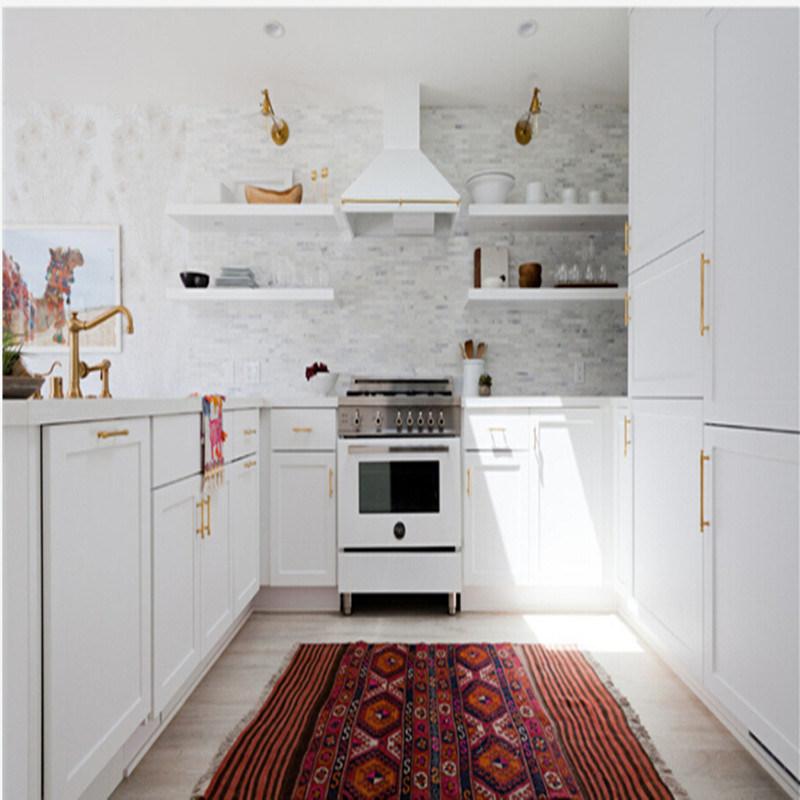 White PVC L-Shape Mini Kitchenette