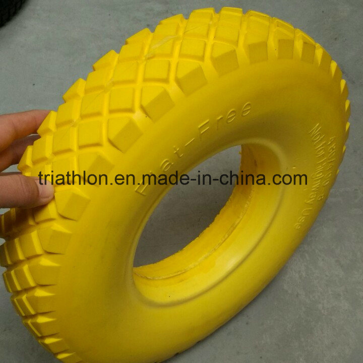 16X4.00-8 Wheelbarrow Foam Tire and Steel Wheel