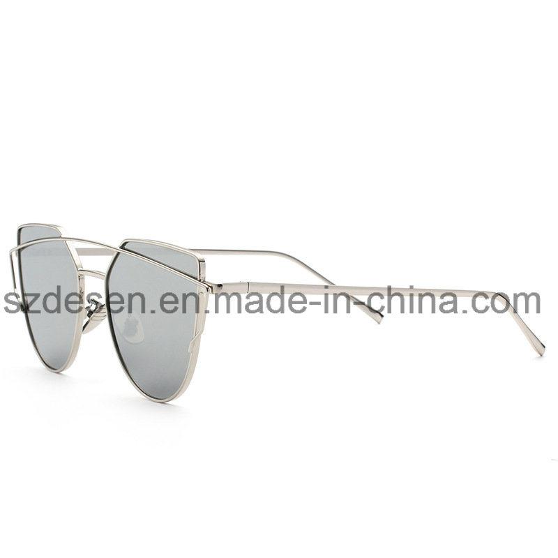 Hot Selling Custom Design Mirror Lens Metal Sunglasses