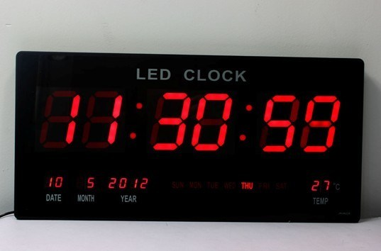China ultrathin big led digital wall clock led display Digital led wall clock