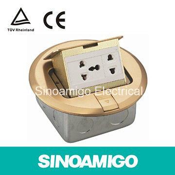 Pop-up Circular Brass Floor Boxes