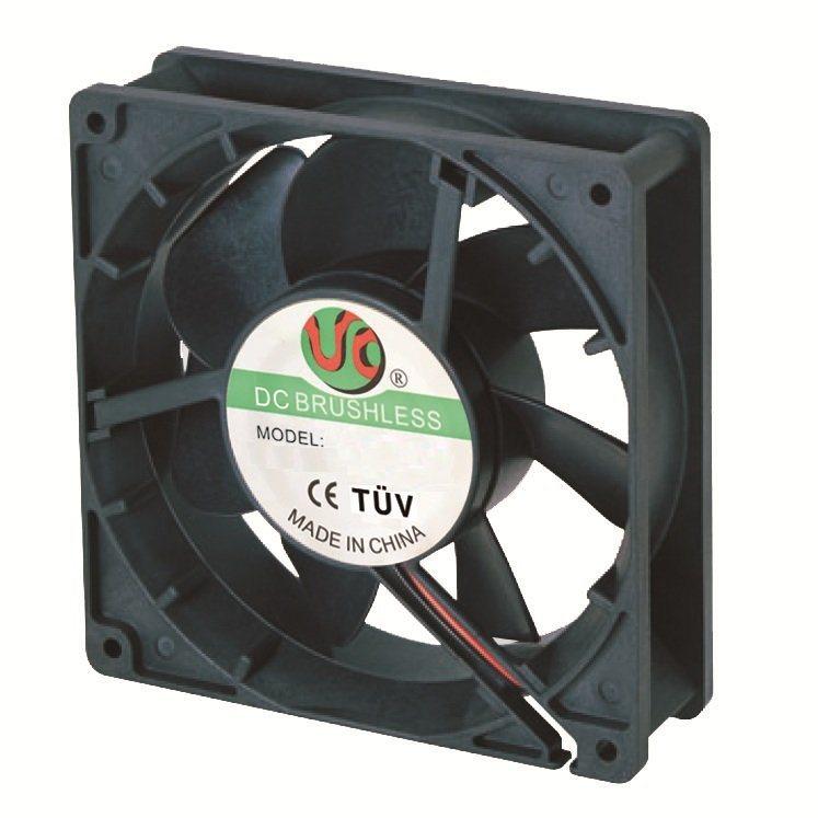127X127X38mm Aluminum Housing Plastic Impeller DC12738 Axial Fan
