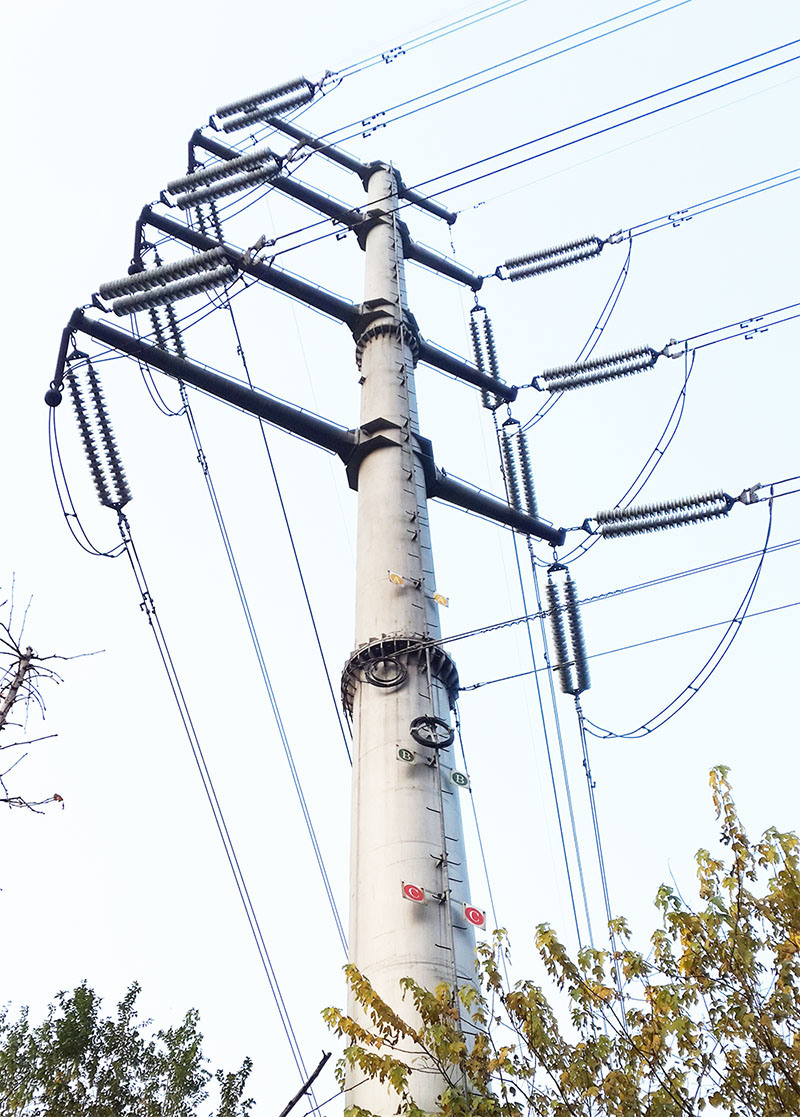 Lighting Pole Electrical Power Column