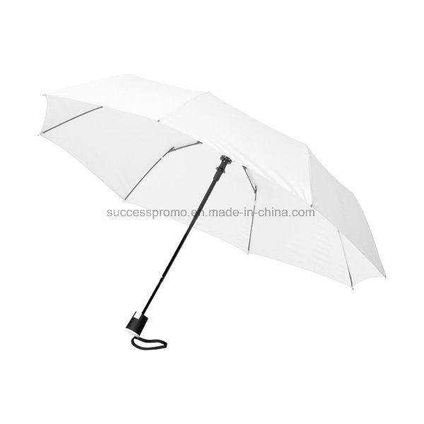 Promotional 21′′ 3-Section Auto Open Folding Umbrella