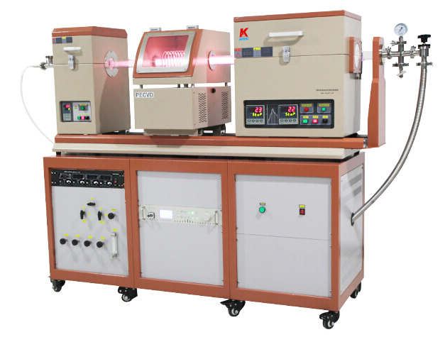 PE-CVD (Plasma Enhanced Chemical Vapor Deposition) Double Tube Furnace