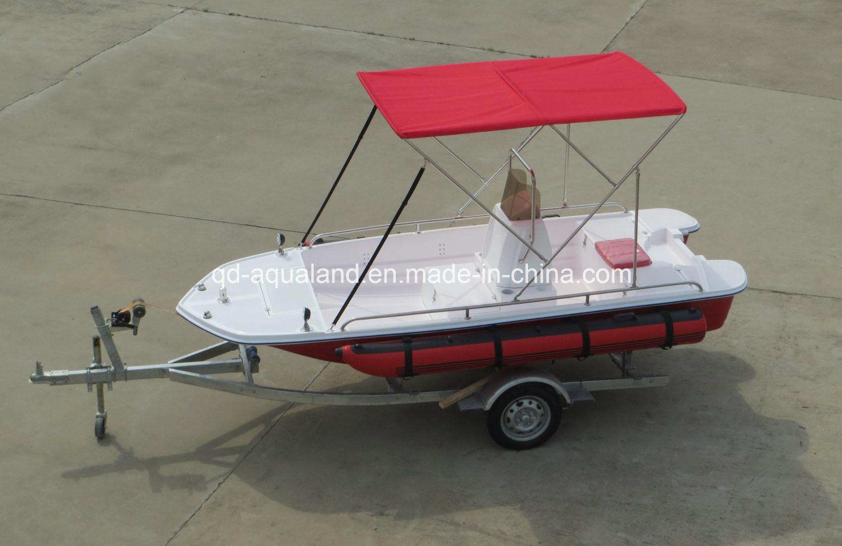China aqualand 4m 13feet speed boat motor boat fiberglass for Fishing boat motor