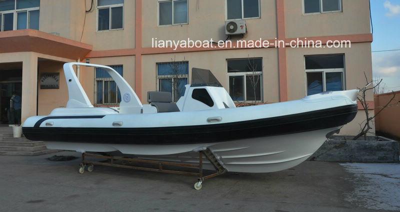 Liya 25 Feet Inflatable Rib Boat with Outboard Motor