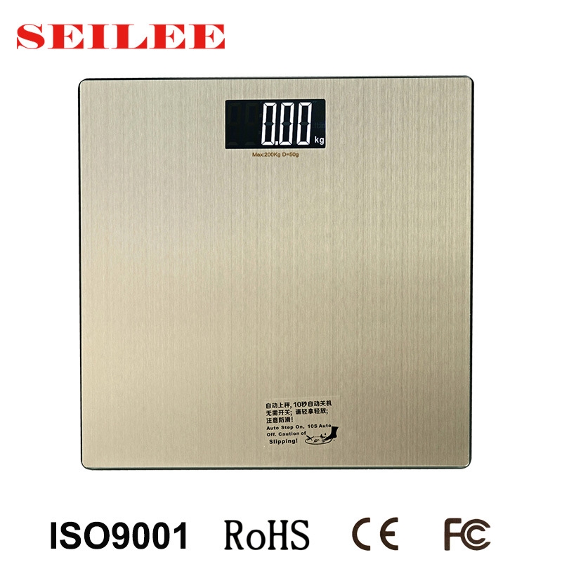 0.3mm Stainless Steel Slim Electronic Bathroom Body Weighing Scale