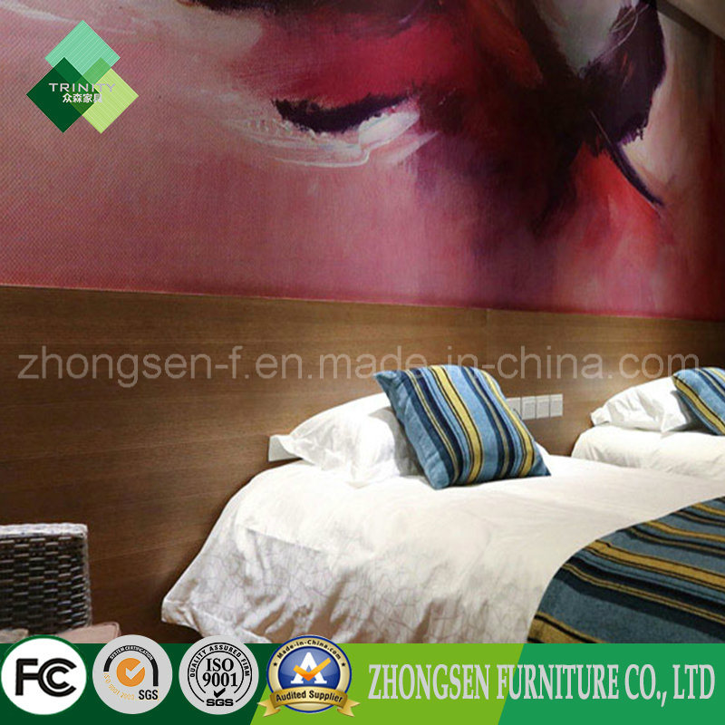 Luxury Modern Style Wood Bedroom Set of Hotel Furniture (ZSTF-01)