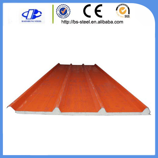 Heat Insulated Polyurethane Roof Sandwich Board