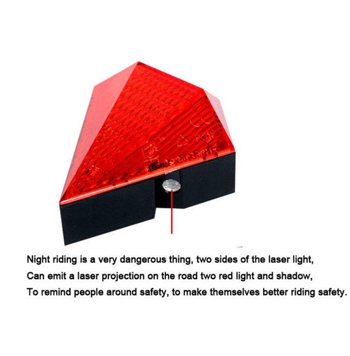 Red Flashing Bicycle Light