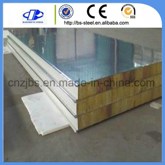 Modular House Used Wall Type Rock Wool Fiber Sandwich Panel