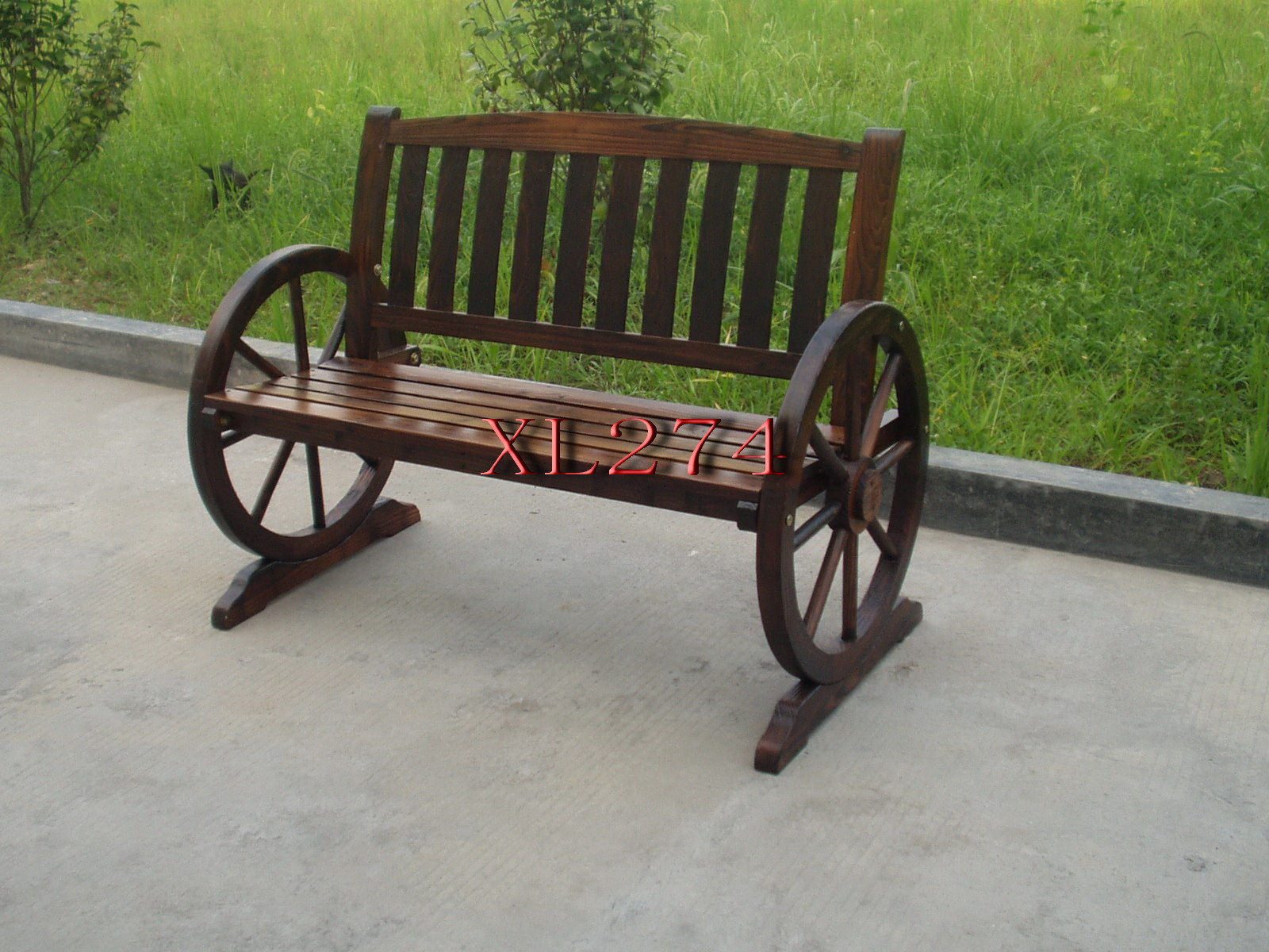 Outdoor Bench in Garden, Park, Community with Back Assembled