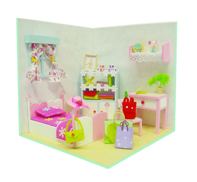 Educational 3D DIY Wooden Doll House Crafts