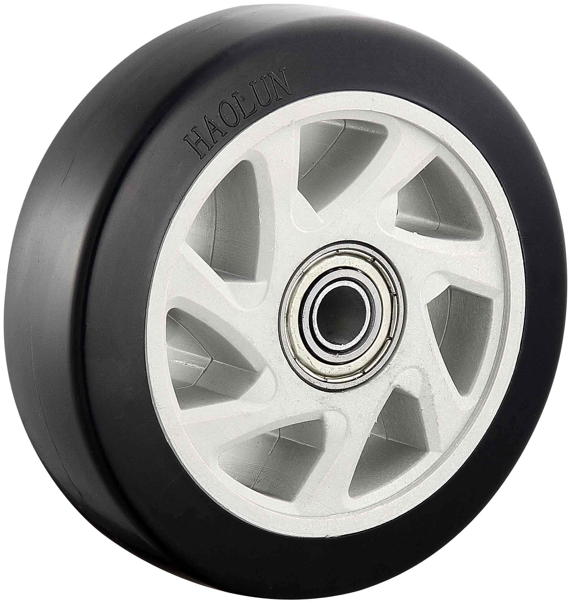 "4′′/5"" Medium Heavy PVC Caster Wheels for Hand Trolley Swivel/Fixed/Brake"