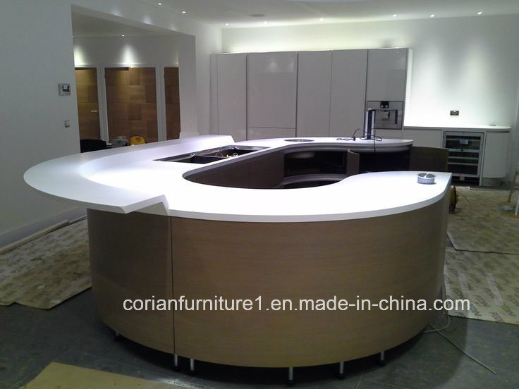 Custom Sized Kitchen Corian Countertop Bar Countertop