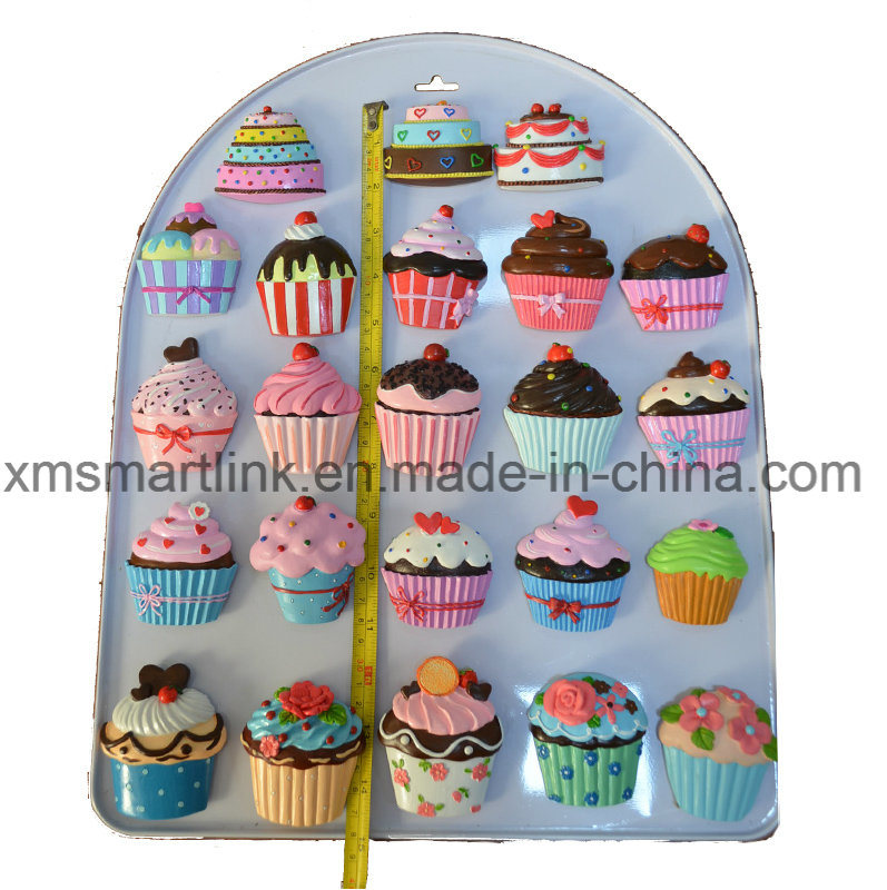 Handicraft Polyresin Cupcake Magnets