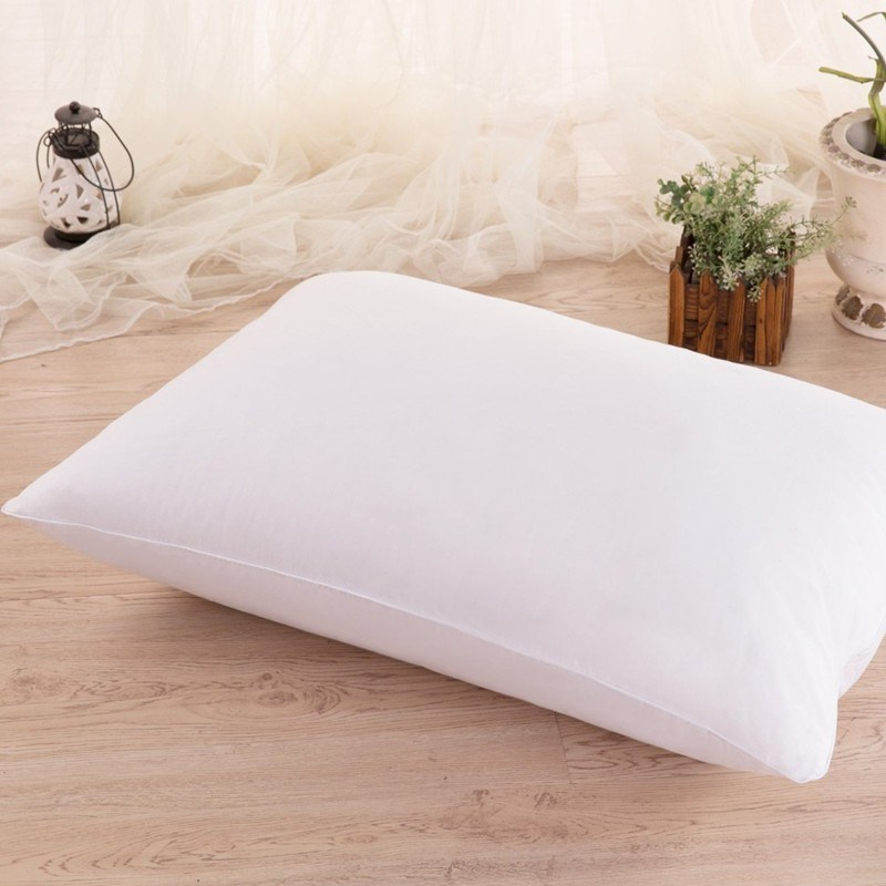 Cotton Fabric Goose Feather Filled Adult Sleeping Pillow