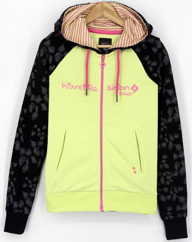 Ss17 Women′s Cotton Fleece French Loopback Spandex Zipthrough Sweatshirts Hoodies