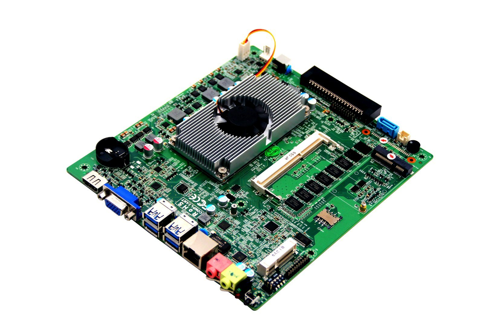 OPS Mini Itx Motherboard Haswell-U Embedded Mainboard with Mini-Pcie for 3G/I7-5500u Processor