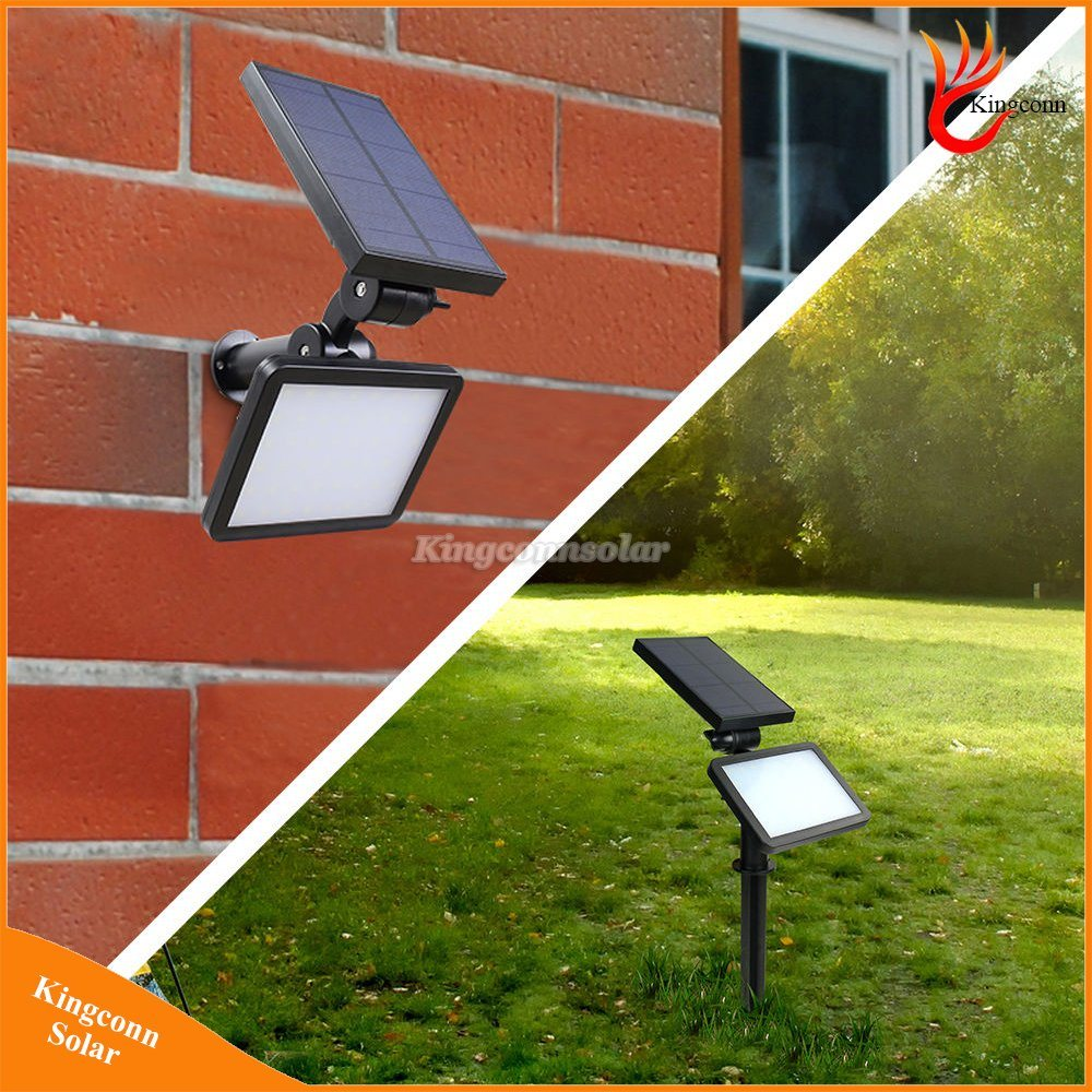 Solar Lawn Light Waterproof 48 LED Powered Outdoor Garden Wall Security Spotlight Lamp