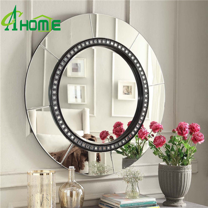 Modern Style Round Framed Wall Decorative Mirror