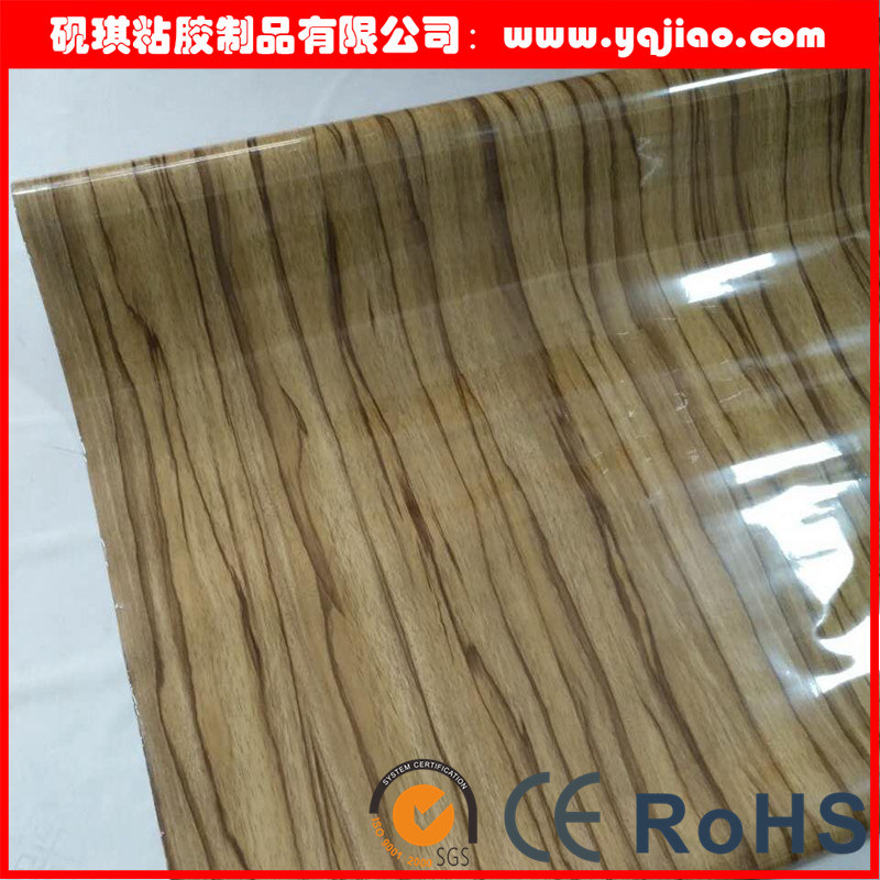 High Gloss Vanilla Furniture PVC Decorative Film