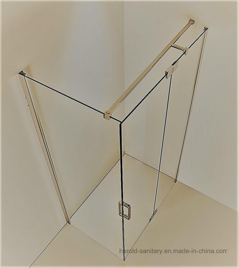 Hr-03-D Pivot Hinge Open SGCC Tempered Glass Shower Door
