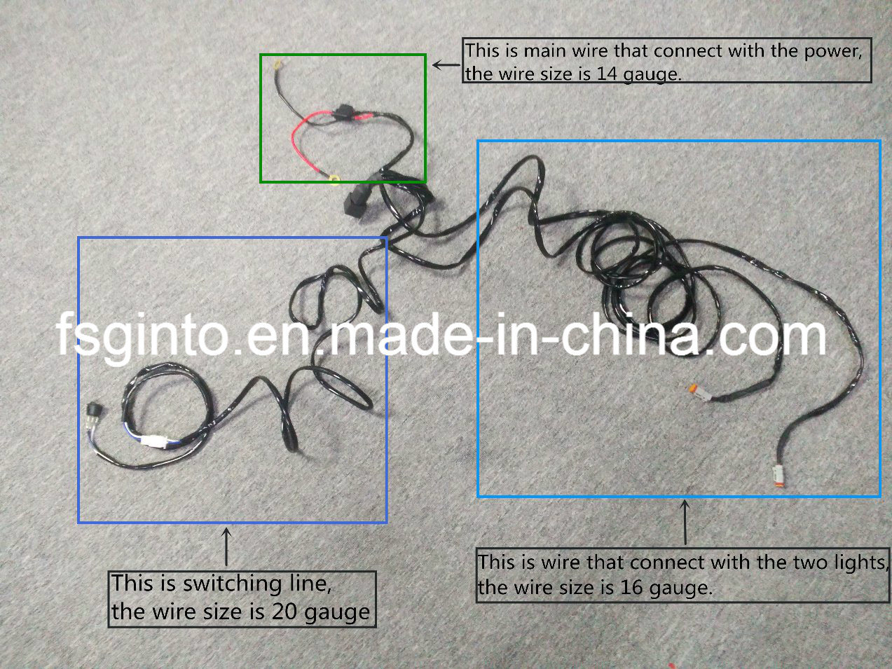 LED Work Light, LED Light Bar 2/3 Meters Wire Harness