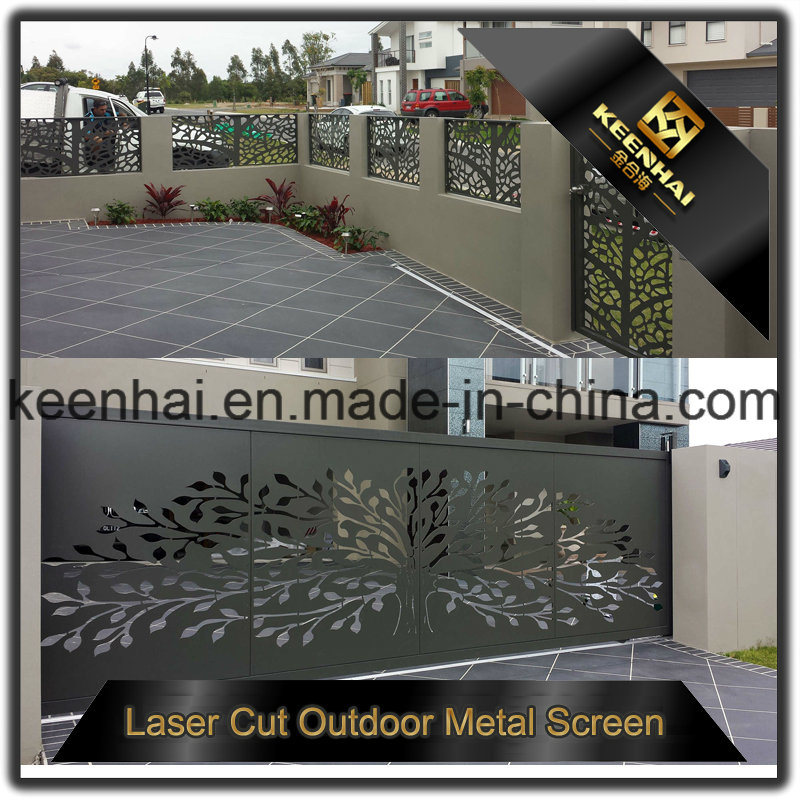 Decorative Laser Cut Perforated Sheet Metal Aluminum Garden Fence