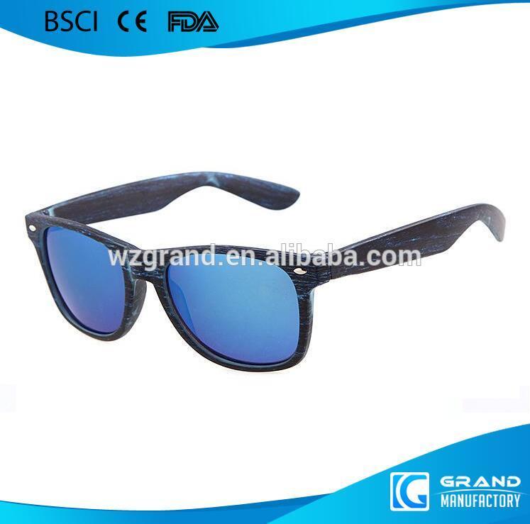 Fake Wooden Sunglasses Plastic Frame Wooden Effect Sunglasses