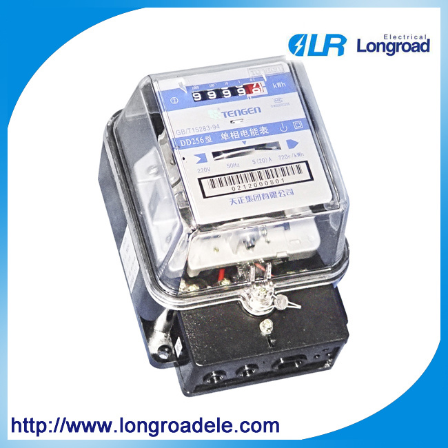 DD256 Type Single Phase Long Life AC Induction Watt-Hour Meter