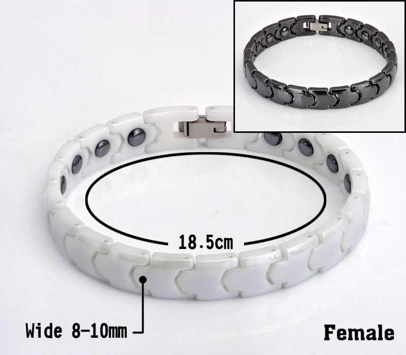 Hematite Beads Ceramic Bracelet for Lady with Stainless Steel Clasp