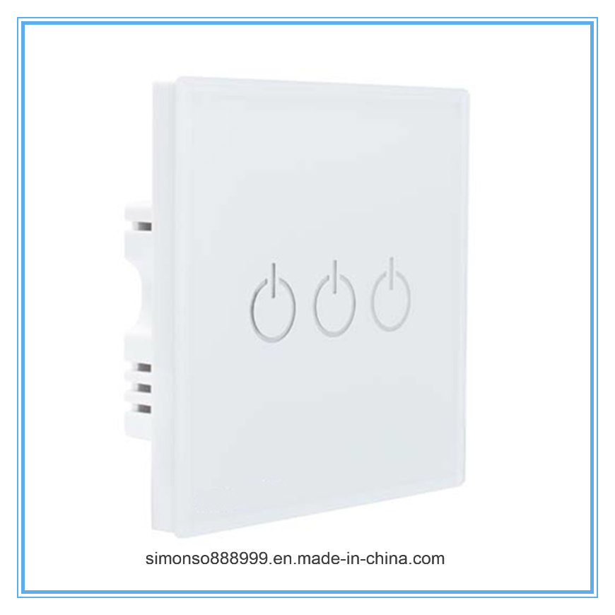 Home Use Three Way Smart WiFi APP Remote Control Wall Switch with Touch Control