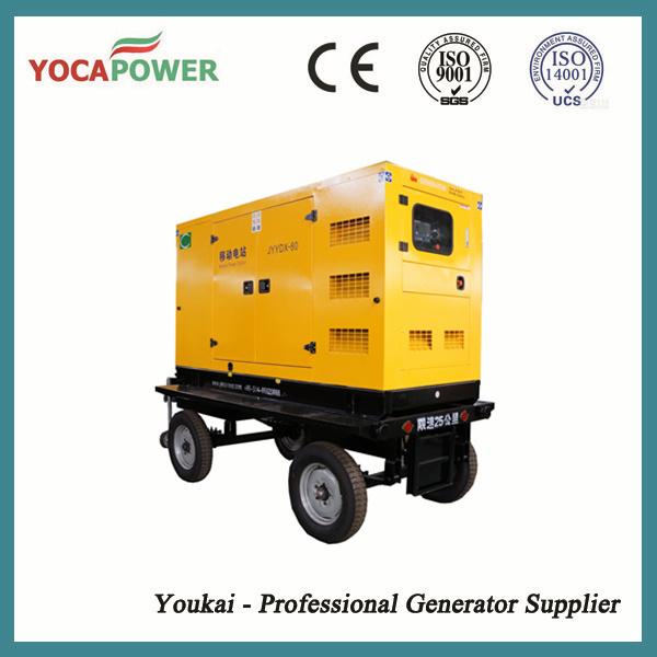 100kw Trailer Generator Soundproof Diesel Generator Set