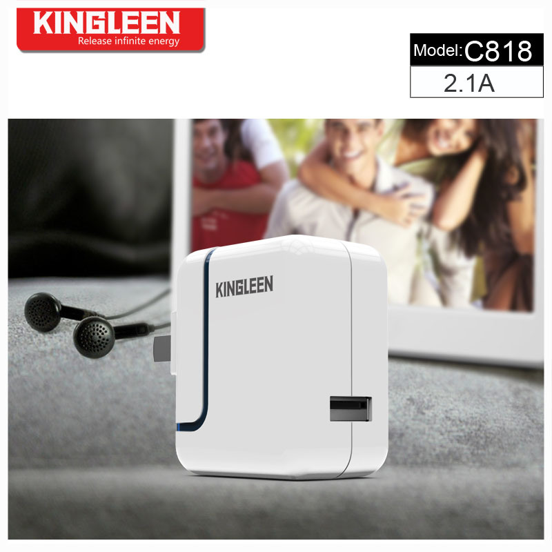 Kingleen′model C818 Single USB Intelligent Battery Charger 5V2.1A Combo Produced by The Original Factory