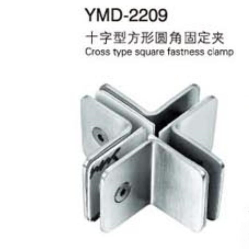 Stainless Steel Glass Door Hardware Fittings Fastness Clamp