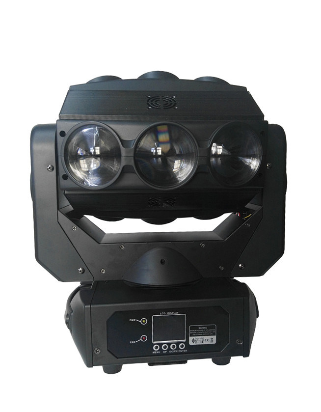 9X12W RGBW Magic Beam LED Stage Moving Head Light