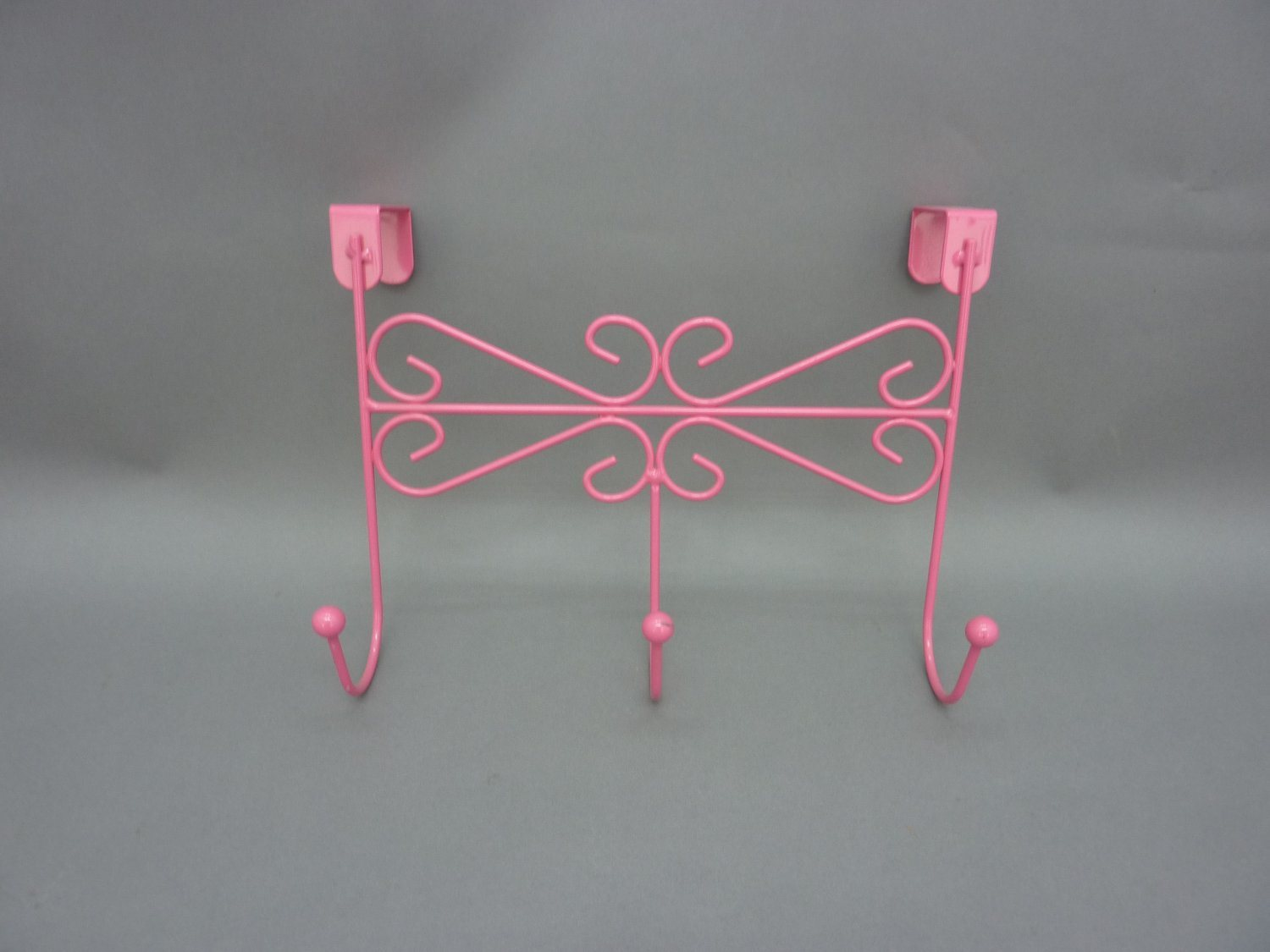 Metal Clothes Rack Hook Painted Solid Wood Balls