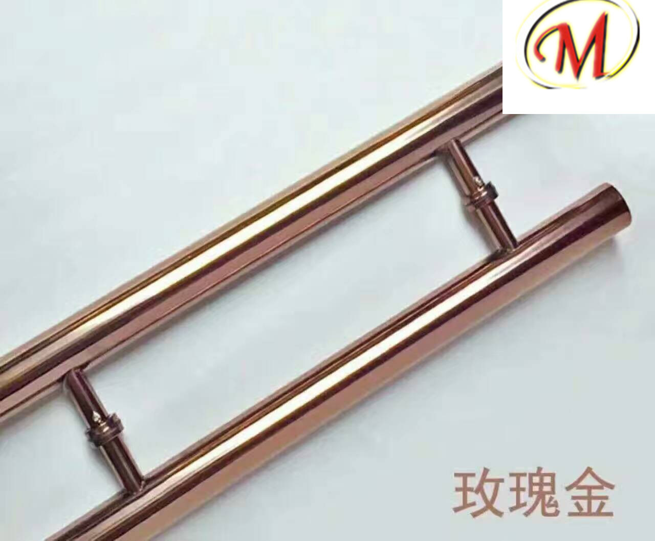 Stainless Steel Door Handle with Stellate Hole Sanding Finish