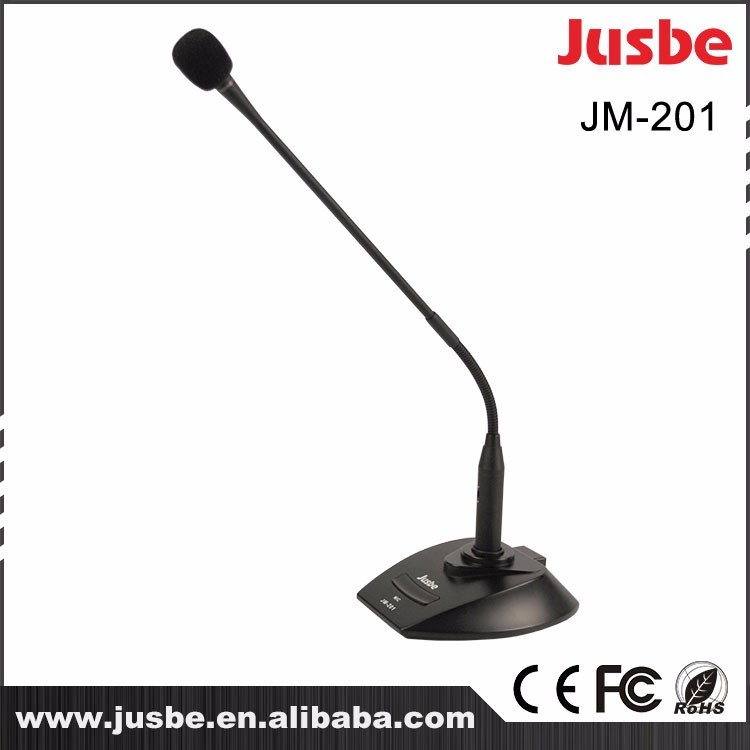 Jusbe Jm-201 Professional Audio Condenser Wire Conference Meeting Desktop Goose Neck Microphone System XLR