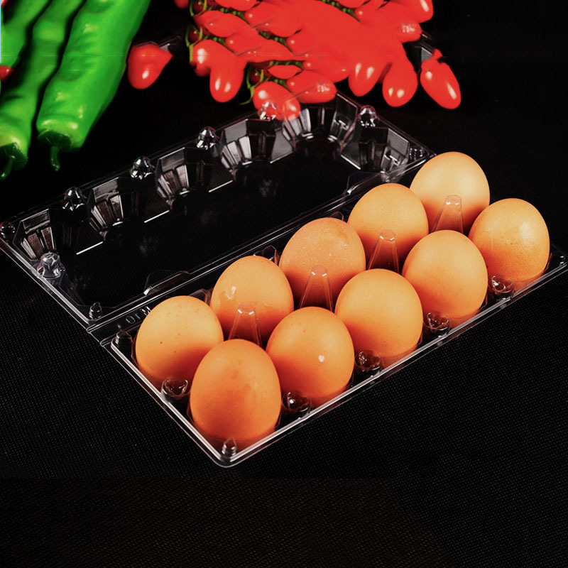 eco-friendly food grade transparent clamshell packaging pet plastic egg tray